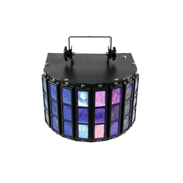 "LED Strahleneffekt - kompakt und ""party-ready"" - 5 Farben, musikgesteuerte Beamshow"
