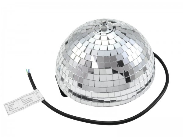 Spiegelkugel halb Halbkugel 20cm silber chrom- Diskokugel (Discokugel) Party Lichteffekt - Echtglas - mirrorball half safety silver chrome color