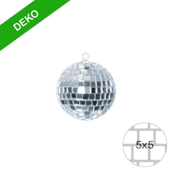 Spiegelkugel 5cm silber- Discokugel Echtglas zur Dekoration - mirrorball silver