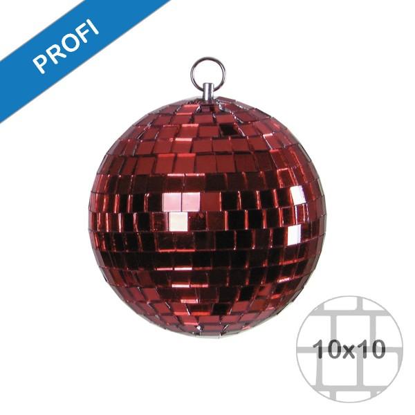 Spiegelkugel 20cm farbig rot- Diskokugel (Discokugel) zur Dekoration und Party- Echtglas - mirrorball rot