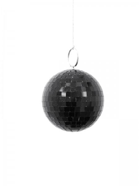 Spiegelkugel 10cm farbig schwarz - Diskokugel (Discokugel) zur Dekoration - Echtglas - mirrorball black
