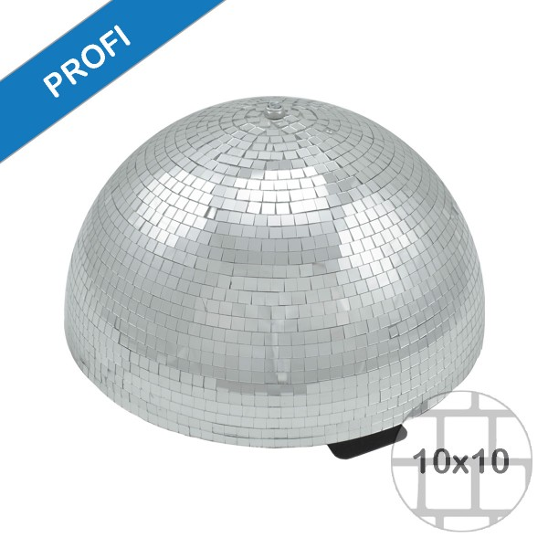 Spiegelkugel halb Halbkugel 40cm silber chrom- Diskokugel (Discokugel) Party Lichteffekt - Echtglas - mirrorball half safety silver chrome color