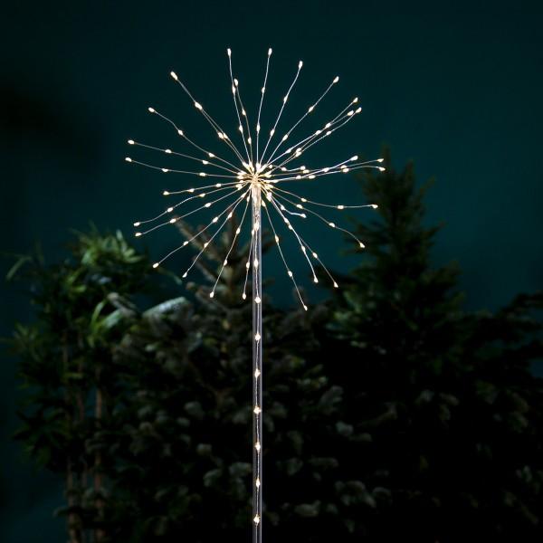 """LED Dekostab """"Firework"""" - H: 100cm - 152 warmweiße LED - Batteriebetrieb - 8 Funktionen - outdoor"""