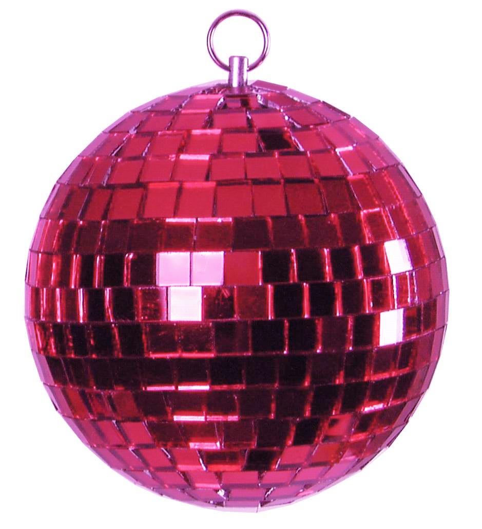 Spiegelkugel 15cm - pink - Diskokugel Echtglas - 10x10mm Spiegel - DEKO Serie
