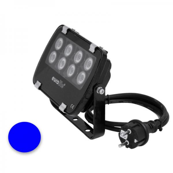EUROLITE LED IP FL-8   30°   8x1W   IP56   blau - Fassandenstrahler - Flutlicht - Baumstrahler - Scheinwerfer
