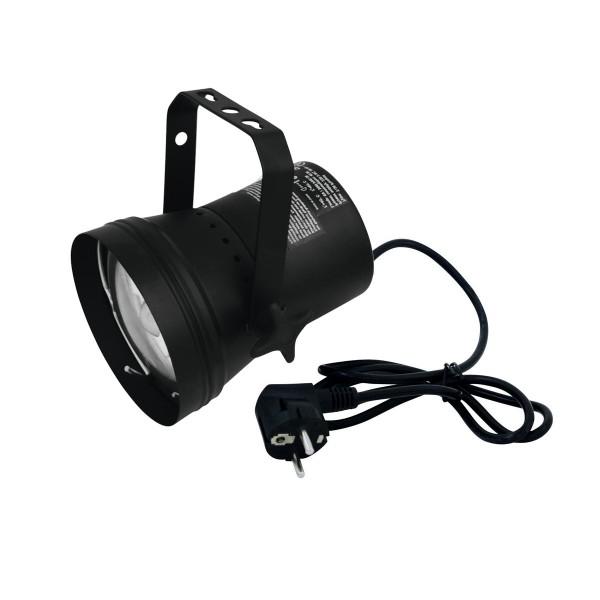 Pinspot Punktstrahler mit Halogenlampe schwarz silber 6V 30W