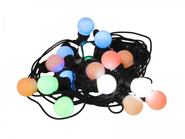 bunte LED Lichterkette mit Programmen - 20 Kugeln - IP44 outdoor Lichterkette