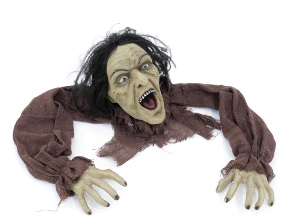 Halloween Figur Crawling Zombie - 140cm - mit letzter Kraft kriecht er aus der Erde - Figur formbar