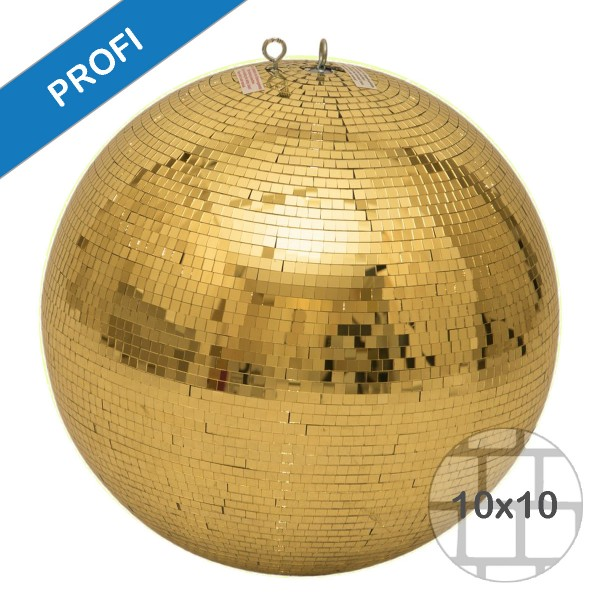 Spiegelkugel 75cm gold- Diskokugel (Discokugel) Party Lichteffekt - Echtglas - mirrorball safety gold color